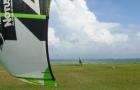 cours kitesurf guadeloupe decollage terre à Bois Jolan