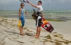 cours kitesurf guadeloupe marche aile en l'air 3