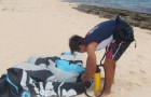 cours kitesurf guadeloupe Mise en place 2